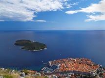 Dubrovnik van hierboven Royalty-vrije Stock Afbeeldingen