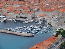 Dubrovnik-Vecchio porto Fotografia Stock