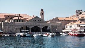 Dubrovnik' vecchio porto di s Fotografia Stock Libera da Diritti
