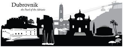 Dubrovnik. Vector illustration of the cityscape skyline of Dubrovnik Royalty Free Stock Photo