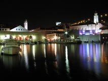 Dubrovnik vid natten, Kroatien Arkivbild