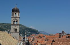 Dubrovnik View From City Wall Royalty Free Stock Photography