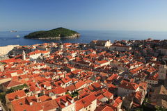 Dubrovnik. A view from city walls Stock Photos