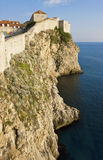 Dubrovnik view of the old city wall and the Adriatic Sea Royalty Free Stock Photography