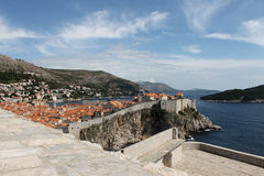 Dubrovnik. View of the old city walls of Dubrovnik Royalty Free Stock Images
