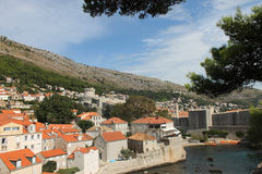 Dubrovnik. View of the old city walls of Dubrovnik Stock Photography