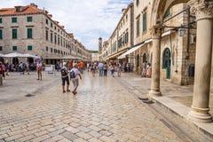 Dubrovnik. View on Stradun Stock Images
