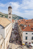 Dubrovnik. View on Stradun and old town Royalty Free Stock Photo
