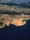 Dubrovnik-Vogelperspektive Lizenzfreies Stockbild