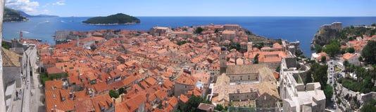 Dubrovnik - Volledig panorama Royalty-vrije Stock Afbeelding