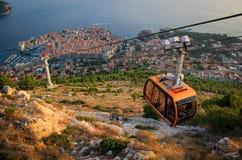Dubrovnik von der Spitze lizenzfreies stockbild