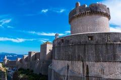 Dubrovnik-Wände, Kroatien Stockfotos