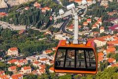 Dubrovnik wagon kolei linowej zdjęcie stock