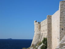 Dubrovnik wall. One of the sea walls of Dubrovnik, Croatia Royalty Free Stock Photos