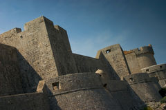 Dubrovnik Walls. The outer walls of the city of Dubrovnik, Croatia Royalty Free Stock Photos