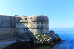 Dubrovnik Walls  - Croatia. The majestic stone defensive walls in Dubrovnik, a Croatian city on the Adriatic Sea, in the region of Dalmatia Stock Photography
