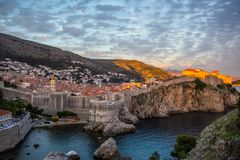 Dubrovnik walls Royalty Free Stock Images