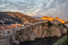 Dubrovnik walls Royalty Free Stock Photography