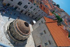 Dubrovnik water tank Royalty Free Stock Image