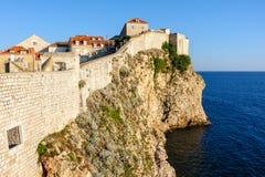 Dubrovnik west defense walls Royalty Free Stock Photos