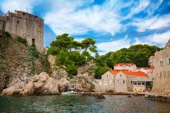 Dubrovnik West Harbor Royalty Free Stock Photos