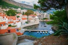 Dubrovnik West Harbor Stock Image