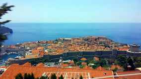 Dubrovnik widok z lotu ptaka, Chorwacja Fotografia Royalty Free
