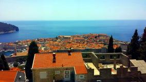 Dubrovnik widok z lotu ptaka, Chorwacja Fotografia Stock