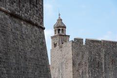 Dubrovnik wierza i ściany Zdjęcie Royalty Free