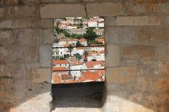 Dubrovnik Through Window Stock Photos
