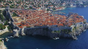 Dubrovnikantenne stock footage