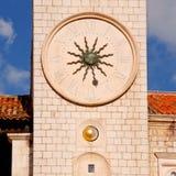 DubrovnikCroatia著名钟楼  免版税库存图片