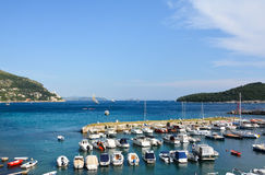 Dubrovnikhaven Royalty-vrije Stock Foto
