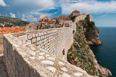 Dubrovnikmening van stadsmuren Royalty-vrije Stock Fotografie
