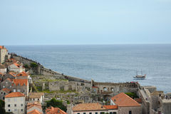 Dubrovnikmuur Royalty-vrije Stock Afbeeldingen