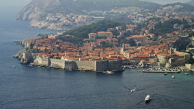 Dubrovnikpanorama stock footage