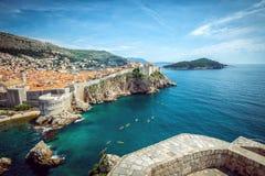 Dubrovnikpanorama Royalty-vrije Stock Afbeeldingen