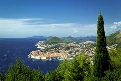 Dubrownik in Croatia harbor beautiful landscape Stock Photography