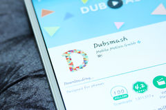 Dubsmash mobiele app Royalty-vrije Stock Foto's