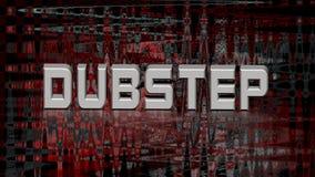 Dubstep音乐,抽象3d例证 库存照片