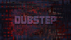 Dubstep, 3D rendering Royalty Free Stock Images