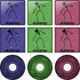 Dubstep disc covers Stock Photo