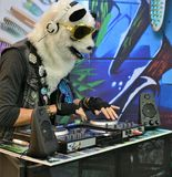 Dubstep and electronic party animal royalty free stock photos