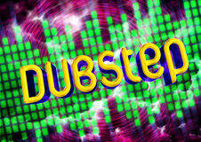 Dubstep music background Royalty Free Stock Images