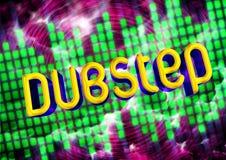 Dubstep music background vector illustration