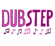Dubstep music style vector. Lettering letters and notes sounds.Dubstep music style vector sketch stock illustration