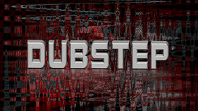 Dubstep-Musik, abstrakte Illustration 3d Stockfotos