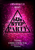 Dubstep party. Night club flyer template Stock Images