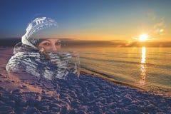 Dubultexspoise at sunset royalty free stock image
