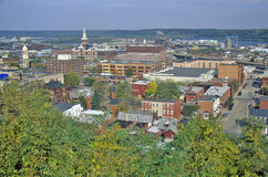 Dubuque Iowa Arkivfoto